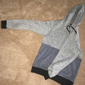 Heathered blue/navy/gray men's hoodie